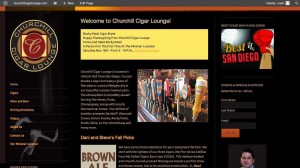 Site Redesign: Churchill Cigar Lounge