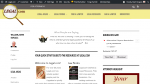Site Launch: Legal.com