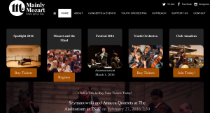 Site Launch: mainlymozart.org
